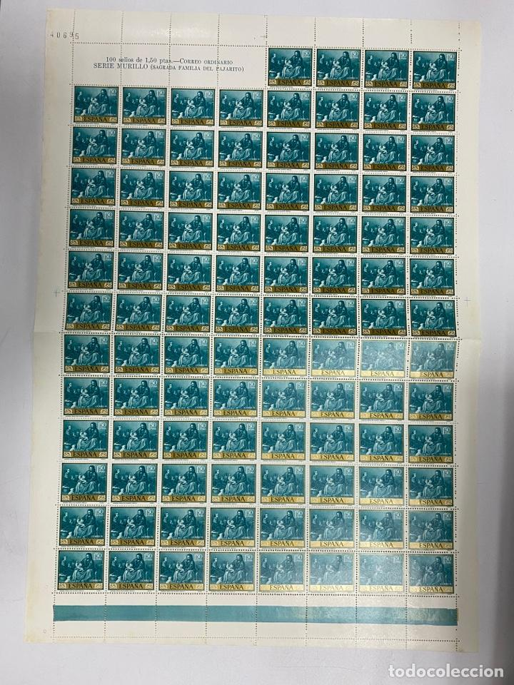 Sellos: ESPAÑA, 1960. EDIFIL 1270/79. BARTOLOMÉ ESTEBAN MURILLO. NUEVOS. SIN FIJASELLOS. PLIEGOS. - Foto 8 - 262685840