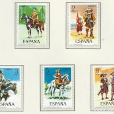 Francobolli: 1974. ESPAÑA. EDIFIL 2167/71**MNH. YVERT 1822/26. UNIFORMES MILITARES/MILITARY UNIFORMS.. Lote 262912080