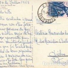 Sellos: ESPANA & CIRCULADO, MADRID, FACHADA NORTE DEL PALACIO REAL, LISBOA PORTUGAL 1963 (15). Lote 262961430