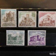Sellos: SERIE CASTILLOS DE ESPAÑA 1972 EDIFIL 2093/2097 NUEVOS (V.C.2001 5.50 EUROS). Lote 263118085