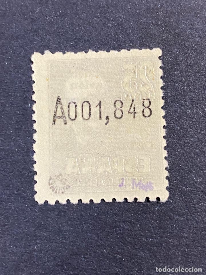 Sellos: ESPAÑA, 1951. EDIFIL 1090. VISITA DEL CAUDILLO A CANARIAS. NUEVO. SIN CHARNELA. ALGO DESCENTRADO - Foto 2 - 263646465
