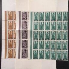 Sellos: 1956 ESPAÑA AÑO JUBILAR DE MONTSERRAT EDIFIL 1192/94 MNH** - 30 SERIES COMPLETAS EN BLOQUE -. Lote 264073620