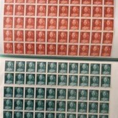 Sellos: 1961 ESPAÑA II CENTENARIO MORATIN EDIFIL 1328/29 MNH** - 50 SERIES COMPLETAS EN BLOQUES -. Lote 264152408