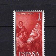 Selos: 1960 ESPAÑA EDIFIL 1325 NAVIDAD, ADORACIÓN DE LOS REYES DE VELÁZQUEZ MNH** NUEVO SIN FIJASELLOS. Lote 265099159