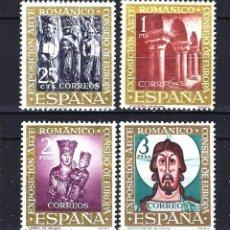 Selos: 1961 ESPAÑA EDIFIL 1365/1368 EXPOSICIÓN CONSEJO DE EUROPA -ARTE ROMÁNICO MNH** NUEVOS SIN FIJASELLOS. Lote 265099319