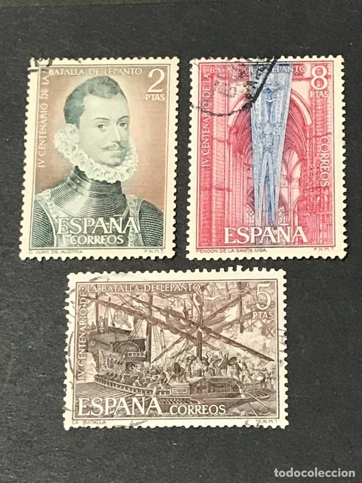 EDIFIL 2055 A 2057 BATALLA DE LEPANTO, USADOS, LOS DE LA FOTO (Sellos - España - II Centenario De 1.950 a 1.975 - Usados)