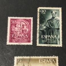 Sellos: EDIFIL 1126 A 1128 UNIVERSIDAD SALAMANCA, USADOS, LEER DESCRIPCIÓN Y VER FOTOS. Lote 266420558