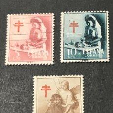 Timbres: EDIFIL 1121 1123 PRO TUBERCULOSOS, USADOS, LEER Y VER FOTOS. Lote 266423598