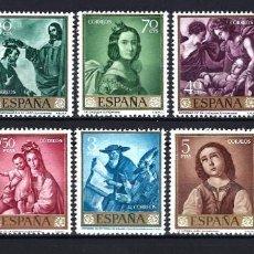 Sellos: 1962 ESPAÑA EDIFIL 1418/1427 PINTURA, ZURBARÁN MNH** NUEVOS SIN FIJASELLOS. Lote 297028153