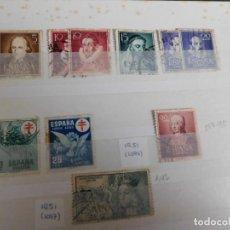 Sellos: 19 SELLOS USADOS DE ESPAÑA DESDE 1950 A 1953 (VER ABAJO REFERENCIAS). Lote 266596288