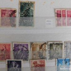 Sellos: 39 SELLOS USADOS DESDE AÑOS1953 A 1955. (VER REFERENCIAS ABAJO). Lote 266597188