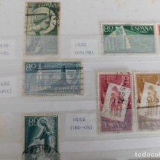 Sellos: 25 SELLOS USADOS DESDE AÑO 1956 A 1958. (VER REFERENCIAS ABAJO). Lote 266598823