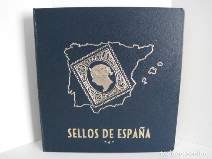 Sellos: ALBUM SELLOS DE ESPAÑA. PHILOS. 1949 - 1980. CORREOS. NO COMPLETA. SELLOS USADOS. FILATELIA. - Foto 7 - 267047899