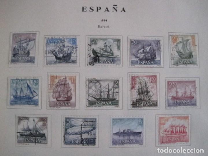 Sellos: ALBUM SELLOS DE ESPAÑA. PHILOS. 1949 - 1980. CORREOS. NO COMPLETA. SELLOS USADOS. FILATELIA. - Foto 24 - 267047899