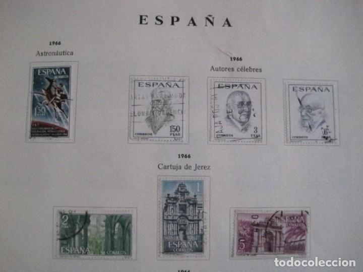 Sellos: ALBUM SELLOS DE ESPAÑA. PHILOS. 1949 - 1980. CORREOS. NO COMPLETA. SELLOS USADOS. FILATELIA. - Foto 27 - 267047899