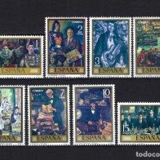Selos: 1972 ESPAÑA EDIFIL 2077/2084 PINTURA, PINTOR SOLANA MNH** NUEVOS SIN FIJASELLOS. Lote 268268014