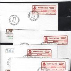 Sellos: ESPAÑA ETIQUETAS CONMEMORATIVA 1985 EXPOFIL VI PUERTO CRUZ 1A/D 4 SOBRES. Lote 268438249