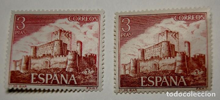 SELLO ESPAÑA VARIEDAD CON DISTINTA TONALIDAD POR DESPLAZAMIENTO DEL COLOR.NUEVAS SIN FIJASELLOS.LUJO (Sellos - España - II Centenario De 1.950 a 1.975 - Nuevos)