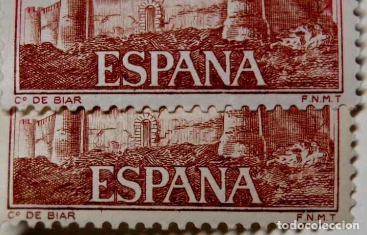 Sellos: SELLO ESPAÑA variedad con DISTINTA TONALIDAD por DESPLAZAMIENTO DEL COLOR.Nuevas sin fijasellos.LUJO - Foto 4 - 268888129