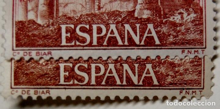 Sellos: SELLO ESPAÑA variedad con DISTINTA TONALIDAD por DESPLAZAMIENTO DEL COLOR.Nuevas sin fijasellos.LUJO - Foto 6 - 268888129