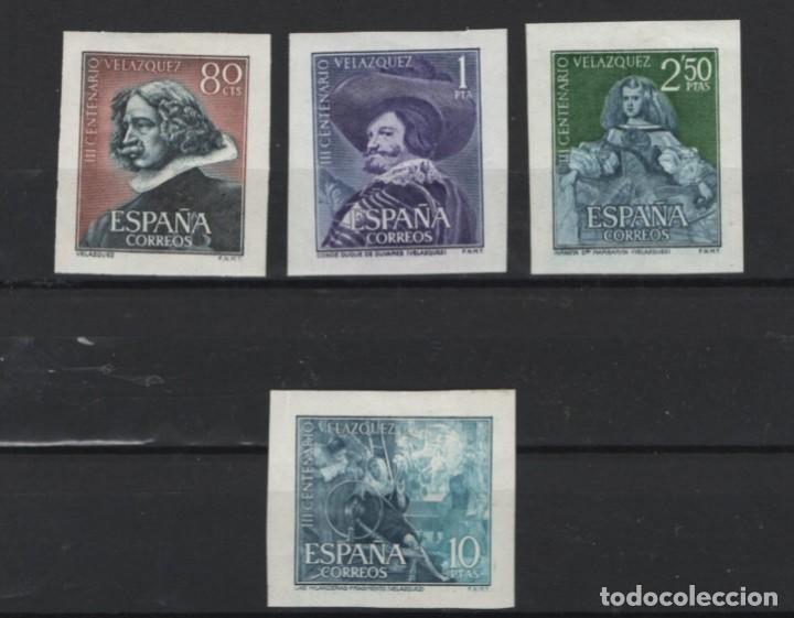 R15 / VELAZQUEZ RECORTADOS DE HB, 1961 /*/ CHARNELA, EDF. 1344/47 (Sellos - España - II Centenario De 1.950 a 1.975 - Nuevos)