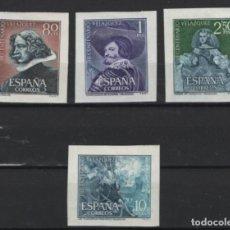 Sellos: R15 / VELAZQUEZ RECORTADOS DE HB, 1961 /*/ CHARNELA, EDF. 1344/47. Lote 268914694