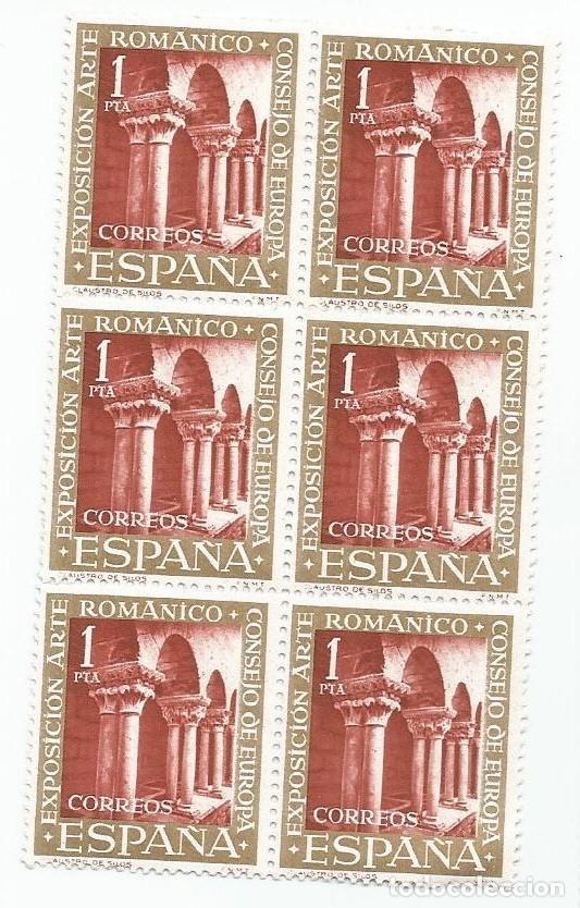 BLOQUE DE 6 SELLOS NUEVOS DE 1961- ARTE ROMANICO-CLAUSTRO DE SILOS - VALOR 1 PESETA- EDIFIL 1366 (Sellos - España - II Centenario De 1.950 a 1.975 - Nuevos)