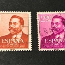 Timbres: EDIFIL 1351 1352 JUAN VÁZQUEZ DE MELLA, USADOS. Lote 268986964
