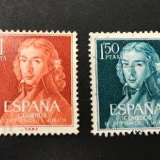 Sellos: EDIFIL 1328 1329 LEANDRO FERNÁNDEZ DE MORATÍN, USADOS. Lote 268991809