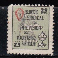 Sellos: SERVICIO SINDICAL DE PREVISIÓN DEL MAGISTERIO PARTICULAR. Lote 269123903