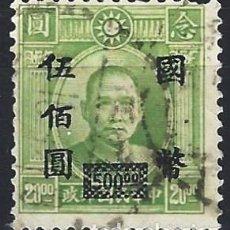 Francobolli: CHINA IMPERIAL 1946-48 - MÁRTIRES DE LA REVOLUCIÓN DE 1925 - SOBRECARGADO - USADO. Lote 269260913