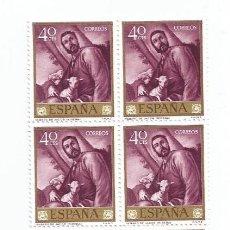 Sellos: BLOQUE DE 10 SELLOS NUEVOS DE 1963- JOSE RIBERA EL ESPAÑOLETO- REBAÑO DE JACOB - EDIFIL 1499. Lote 269273863