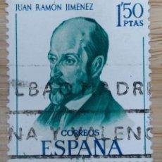 Sellos: ESPAÑA, 1970, LITERATOS ESPAÑOLES, JUAN RAMÓN JIMÉNEZ, EDIFIL 1992,. Lote 270257548