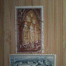 Sellos: ESPAÑA 1963. EDIFIL 1494-97 1497. MONASTERIO STA MARÍA DE POBLET.. Lote 270370328