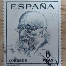 Sellos: ESPAÑA 1966 EDIFIL 1760 LITERATOS: JACINTO BENAVENTE. Lote 270371758