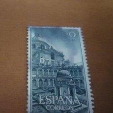 Sellos: SELLO DE 80 CENTIMOS 1961 REAL MONASTERIO SAN LORENZO DEL ESCORIAL EDIFIL 1383 USADO. Lote 270546263