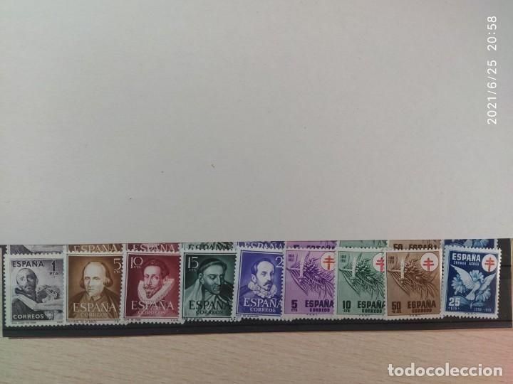 1950-SELLOS ESPAÑA NUEVO SIN FIJASELLOS MNH** EDIFIL 1070/1074 Y 1084/1087 (Sellos - España - II Centenario De 1.950 a 1.975 - Nuevos)