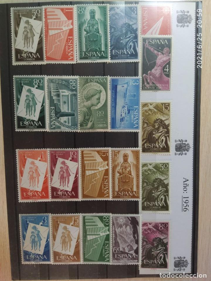 1956-SELLOS ESPAÑA AÑO COMPLETO NUEVO SIN FIJASELLOS MNH** EDIFIL 1185/1205 (Sellos - España - II Centenario De 1.950 a 1.975 - Nuevos)