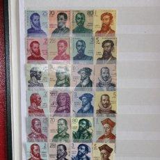 Sellos: SERIE FORJADORES DE AMÉRICA COMPLETA USADOS (11 SERIES, VER FOTOS)ALGUNOS SELLOS NUEVOS. Lote 272582623