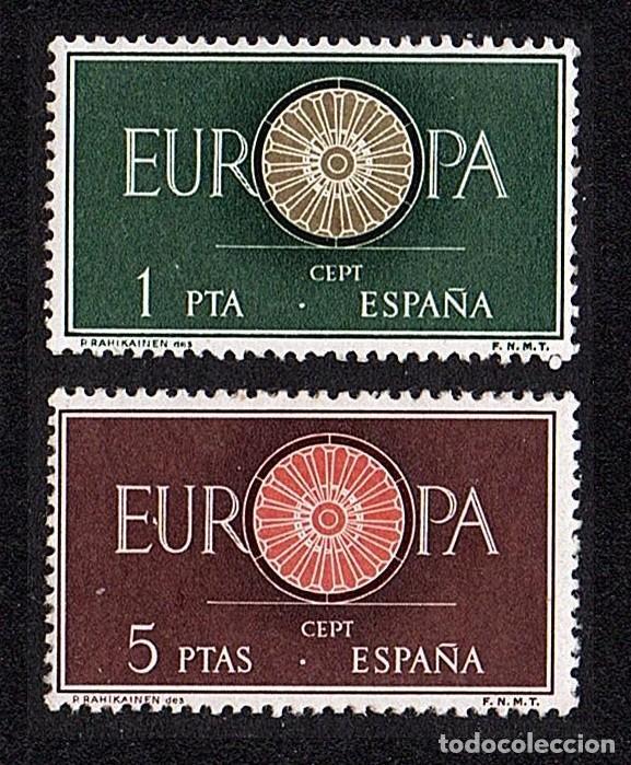 SERIE NUEVA DE ESPAÑA TEMA EUROPA 1960 SIN FIJASELLOS (Sellos - España - II Centenario De 1.950 a 1.975 - Nuevos)