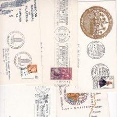 Francobolli: F3-33- LOTE 5 SOBRES MATASELLOS ESPECIALES DIRIGIDOS A L ALEMANY. Lote 272787018