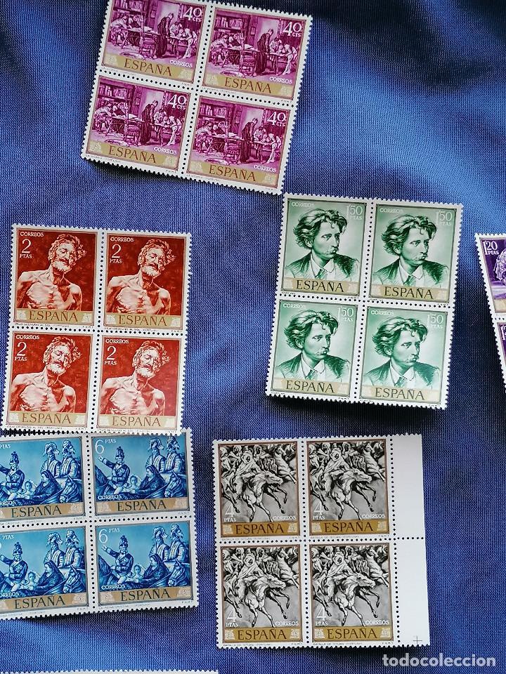 Sellos: España lote sellos Pintura Fortuny 5 Serie Completa Edifil 1854/3 nuevos MNH *** - Foto 4 - 273996198