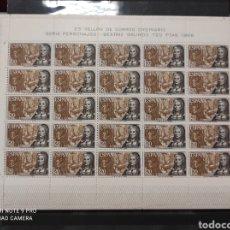 Sellos: ESPAÑA EDIFIL 1864 LITERATURA BEATRIZ GALINDO HOJA DE 25 SELLOS. Lote 274437548