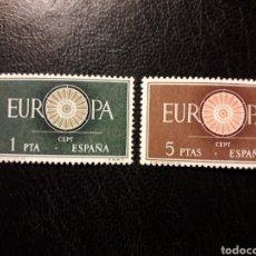 Timbres: ESPAÑA EDIFIL 1294/5 SERIE COMPLETA NUEVA *** 1960 EUROPA CEPT. PEDIDO MÍNIMO 3€. Lote 274649863