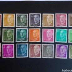 Sellos: GENERAL FRANCO. 1955/56. EDIFIL 1143/1163. SERIE COMPLETA. USADA.. Lote 274661553