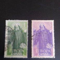 Sellos: EUROPA CEPT. 1965. EDIFIL 2675/1676. SERIE COMPLETA. USADA.. Lote 274670198