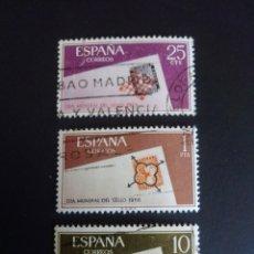 Sellos: DIA DEL SELLO. 1966. EDIFIL 1723/1725. SERIE COMPLETA. USADA.. Lote 274671758