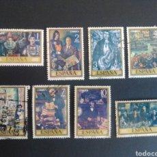 Sellos: PINTORES ESPAÑOLES. SOLANA. 1972. EDIFIL 2077/2084. SERIE COMPLETA. USADA.. Lote 274673713