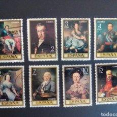 Sellos: PINTORES ESPAÑOLES. VICENTE LÓPEZ. 1973. EDIFIL 2146/2153. SERIE COMPLETA. USADA.. Lote 274674608