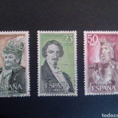 Sellos: PERSONAJES ESPAÑOLES. 1972. EDIFIL 2071/2073. SERIE COMPLETA. USADOS.. Lote 274677308